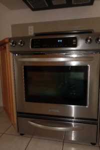 KitchenAid Convection Oven Glass Cooktop Front Control Knobs