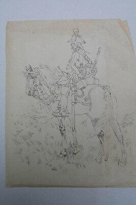 Soldat zu Pferd, um 1790 - Federzeichnung, 19.Jahrh.