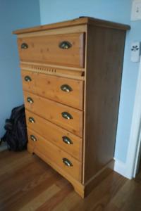 Solid Pine 3 Piece Bedroom Dresser Set