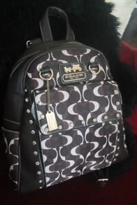 Coach backpack with diamond accents