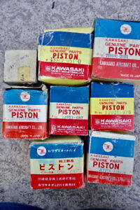New Vintage Motorcyle Parts, Pistons, Air Filters