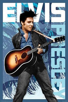 Elvis Presley Blue Poster Print 24x36 Rock & Pop Music