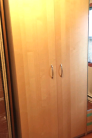 Ikea pax double wardrobe light oak effect