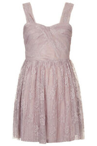 NWT Topshop Mauve Lace Dress sz 6