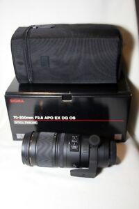 Brand New never used Sigma for Nikon 70-200mm F2.8 APO EX DG OS.
