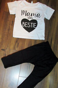 2Pcs Outfit T-shirt & Pants For Infant Newborn Baby Girl/Fille