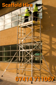 ALUMINIUM SCAFFOLDING TOWER HIRE IN LEEDS WAKEFIELD FREE DELIVERY