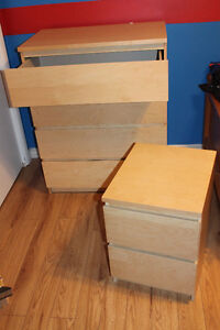 IKEA dresser and night stand or side table