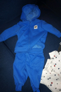 Blue jogging suit 3 to 6 months
