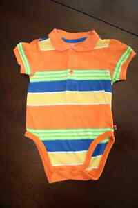 Collared Cotton Onesie- Diaper Shirt