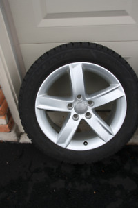 AUDI OEM RIMS AND SNOW TIRES