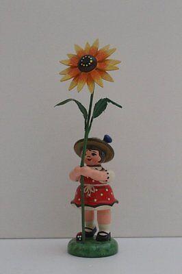396-307h0101 Hubrig Blumenkind Mädchen mit Sonnenhut