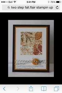 Two step fall flair by Stampin up London Ontario image 4