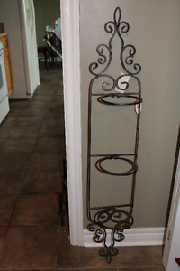 NEW Metal Decorative Wall Plant Rack  (indoors or outdoors)