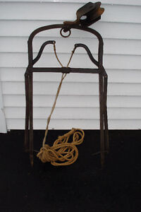 Vintage Wrought Iron  Hay Hook Harpoon
