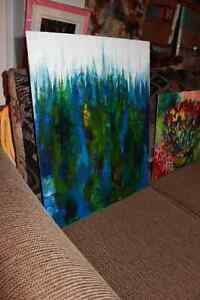Peinture Tableau Painting Tableaux Abstract Abstraite by MILLA! West Island Greater Montréal image 9