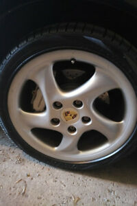 PORSCHE 911 ORIGINAL TURBO MAGS WHEELS , ROUES