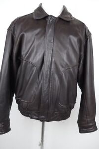 A-2 Leather Flight Motorcycle Jacket Bomber Size 46 XL