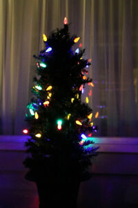 Noma Indoor/Outdoor LED Multi-Coloured 4' Pine Christmas Trees