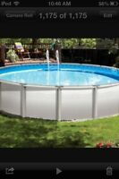 **FREE ABOVE GROUND POOL**
