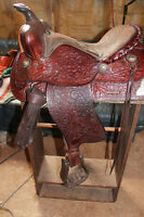 Western show saddle for sale