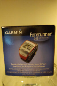 Garmin Forerunner 305 watch with heart rate monitor