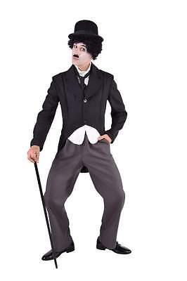 Charly Chaplin Kostüm Charlie Komiker Stumfilm 20er Jahre Herren Kinder Thearter (Charlie Chaplin Kostüm Kind)