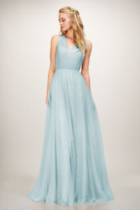 THEIA Couture Arya Bridesmaid Dress in Sea Blue - FOR SALE