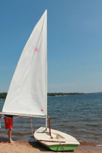 Laser sailboat and trailer