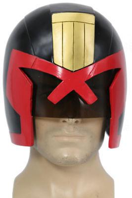 XCOSER Judge Dredd Helmet Cosplay Mask Movie Costume Halloween Figure Replica - Dredd Costume Halloween
