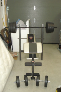 bench press poids haltere banc