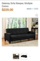 Black sofa sleeper 80$