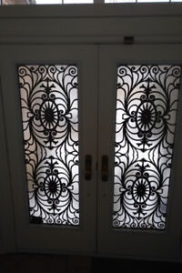 Door - 34(w) x 81, Double Steel Door, Full Light Wrought Iron In