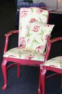 2 Lovely Chairs with Cushions