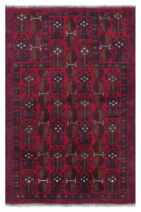 Royal Balouch Afghan 100% Wool Vintage Rug Tapestry in Red
