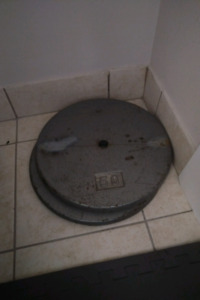2x50 Lb Weights, 1 inch