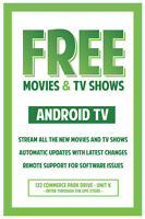 Android TV - Cut the cord. Store Front Location for your safety!