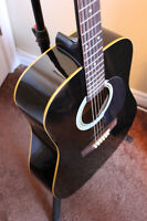 As New Dreadnought Acoustic with New Strings and Gig Bag
