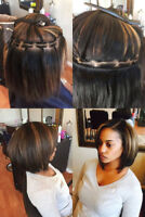 crochet braids, marly braids and twist, sew in rows