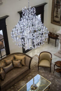 Majestic 49-Light Crystal Chandelier + 2 Sconces – GORGEOUS!!
