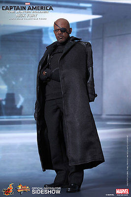 1/6 Captain America The Winter Soldier Nick Fury MM Hot Toys