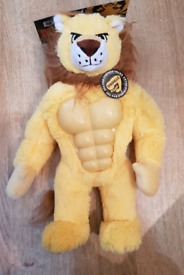 Brand New with Tag Lion Mighty Beast Tough Dog Toy with Squeaker.