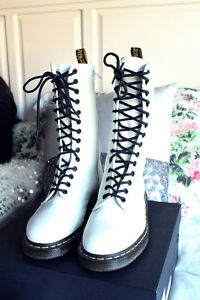 Dr. Marten's white, 1914 SMOOTH boots for sale
