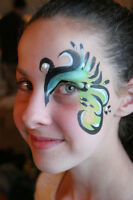 Face painting artist (and belly painting)