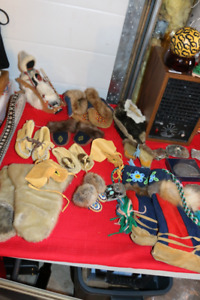 ORIGINAL AUTHENTIC NATIVE MOCCASINS CHILDS BEAD WORK AND MORE