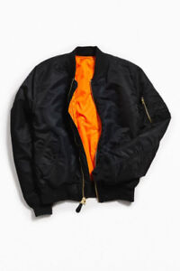ALPHA INDUSTRIES MA-1 SLIM BOMBER (BLACK) - LIKE NEW