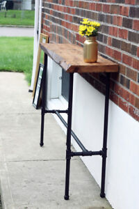 RECLAIMED WOOD CONSOLE TABLE / TV STAND