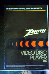 Zenith VP2000 Video Disc Player for selecavision CED discs