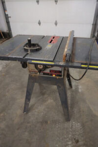 "10"" craftsman table saw works perfect call 497-8920"