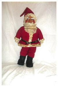 Antique Cloth Santa with Excellent Buckram Face -